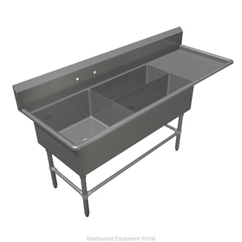 John Boos 43PBPS322441D24R Sink 3 Three Compartment (Magnified)