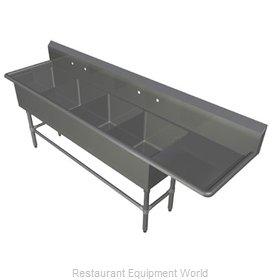 John Boos 44PB1618-1D18R Sink, (4) Four Compartment