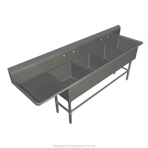 John Boos 44PB18-1D30L Sink 4 Four Compartment