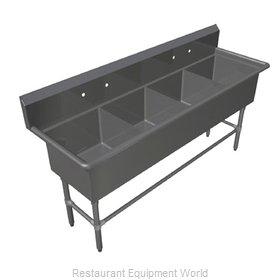 John Boos 44PB3024 Sink, (4) Four Compartment