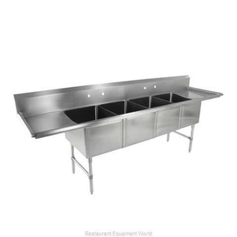 John Boos 4B18244-2D18 Sink 4 Four Compartment (Magnified)