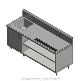 John Boos 4CB4R10-30108-L Beverage Counter