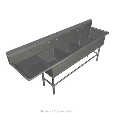 John Boos 4PB16184-1D18L Sink, (4) Four Compartment