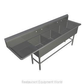 John Boos 4PB18-1D18L Sink, (4) Four Compartment