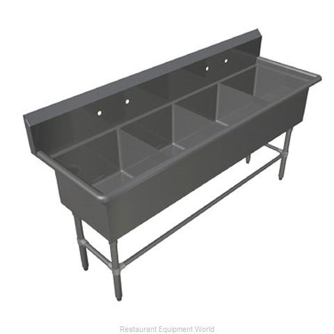John Boos 4PB1824 Sink 4 Four Compartment (Magnified)