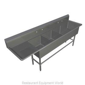 John Boos 4PB18244-1D30L Sink, (4) Four Compartment