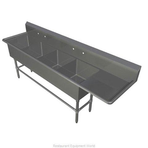 John Boos 4PB18244-1D30R Sink, (4) Four Compartment