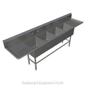 John Boos 4PB184-2D18 Sink, (4) Four Compartment