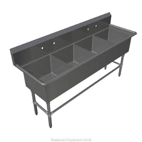 John Boos 4PB204 Sink, (4) Four Compartment