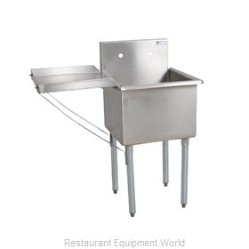 John Boos B1S8-18-14-X Sink, (1) One Compartment