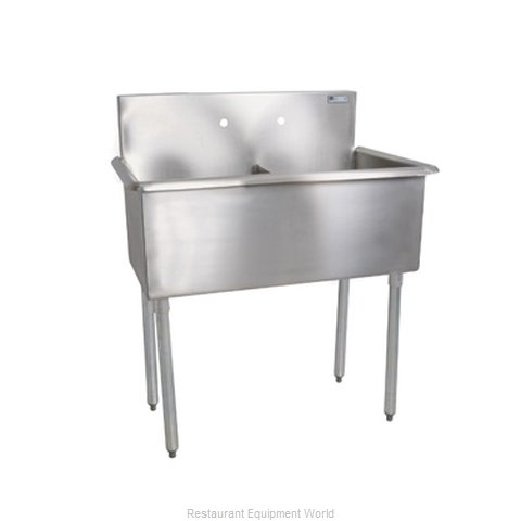 John Boos B2S8-1821-12-X Sink, (2) Two Compartment