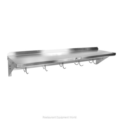 John Boos BHS12120PR Overshelf, Wall-Mounted With Pot Rack