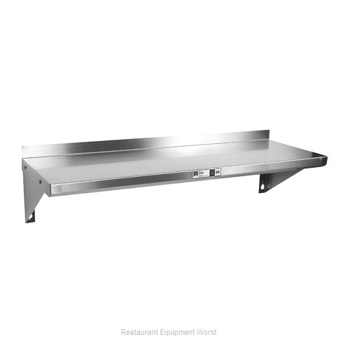 John Boos BHS1272-16/304 Overshelf Wall-Mounted (Magnified)