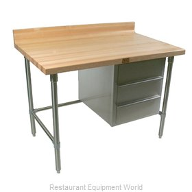 John Boos BT1S03 Work Table Wood Top