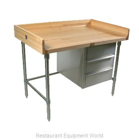 John Boos BT3S02 Work Table, Bakers Top