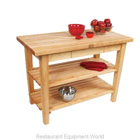John Boos C01-2S Work Table, Wood Top