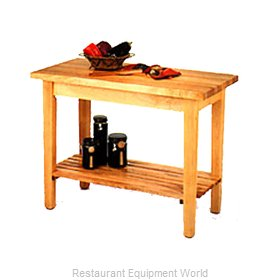 John Boos C07-S Work Table, Wood Top