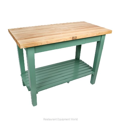John Boos C3624-N Work Table, Wood Top