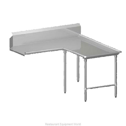 John Boos CDT6-I6072GBK-R Dishtable Clean L Shaped