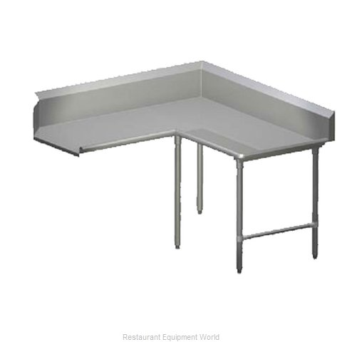John Boos CDT6-K6048GBK-R Dishtable Clean L Shaped
