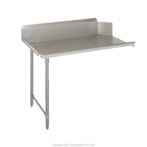 John Boos CDT6-S72SBK-L Dishtable Clean (Magnified)