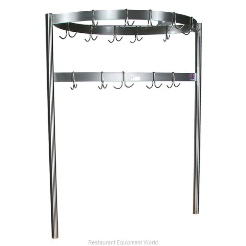 John Boos CPRB01 Pot Rack, Table-Mounted (Magnified)