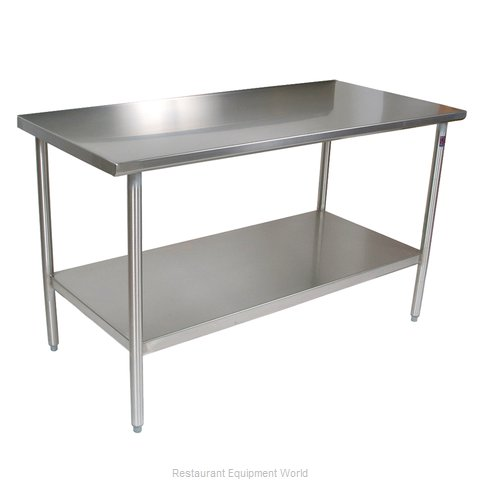 John Boos CUCTA08 Work Table 48 Long Stainless Steel Top