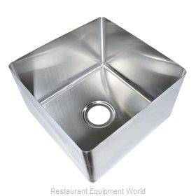 John Boos CUT2020124 Sink Bowl, Weld-In / Undermount