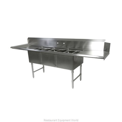 John Boos DT3B244-2D24L Dishtable, With Potsinks