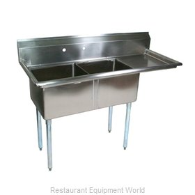 John Boos E2S8-1620-12R18X Sink, (2) Two Compartment
