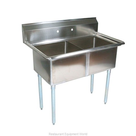 John Boos E2S8-24-14 Sink, (2) Two Compartment