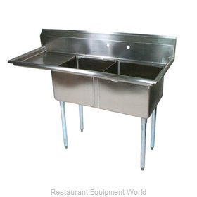 John Boos E2S8-24-14L24-X Sink, (2) Two Compartment