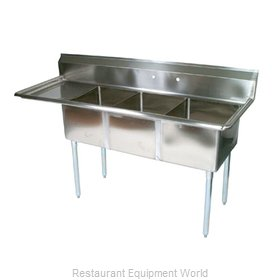John Boos E3S8-101410L15-X Sink, (3) Three Compartment