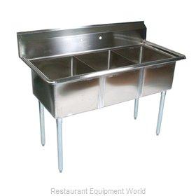 John Boos E3S8-15-14-X Sink, (3) Three Compartment