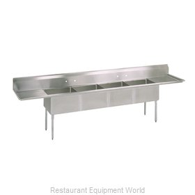 John Boos E4S8-1620-14T18X Sink, (4) Four Compartment