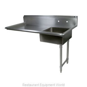 John Boos EDTS8-S30-50UCRX Dishtable, Soiled, Undercounter Type