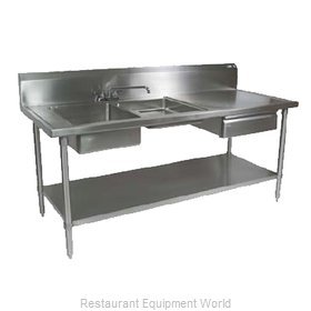 John Boos EPT6R10-DL2B-96L Work Table, with Prep Sink(s)