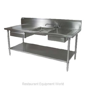 John Boos EPT6R10-DL2B-96R Work Table, with Prep Sink(s)