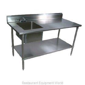 John Boos EPT6R5-3060SSK-L-X Work Table, with Prep Sink(s)