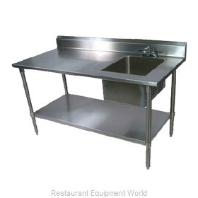 John Boos EPT6R5-3072SSK-R Work Table, with Prep Sink(s)