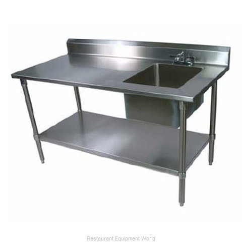 John Boos EPT6R53060GSKR Work Table 60 long with Prep Sink