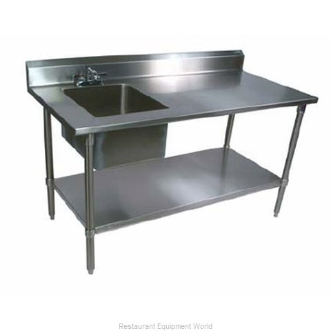John Boos EPT6R53060SSKL Work Table 60 long with Prep Sink