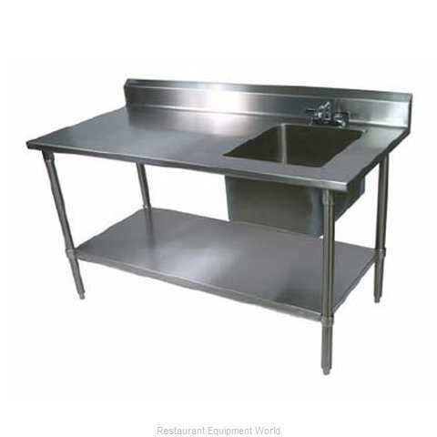John Boos EPT6R53060SSKR Work Table 60 long with Prep Sink