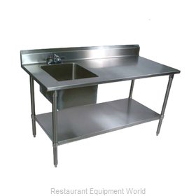 John Boos EPT8R5-3060GSK-L Work Table, with Prep Sink(s)