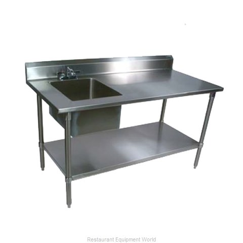 John Boos EPT8R5-3060SSK-L Work Table 60 long with Prep Sink