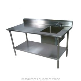 John Boos EPT8R5-3060SSK-R Work Table, with Prep Sink(s)