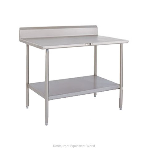 John Boos ESS087 Work Table 48 Long Stainless Steel Top