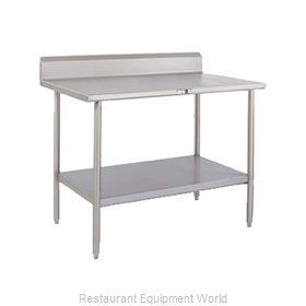 John Boos ESS089 Work Table 72 Long Stainless Steel Top
