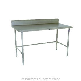 John Boos ESS125 Work Table 120 Long Stainless Steel Top