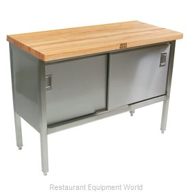 John Boos ETNS10 Work Table, Wood Top
